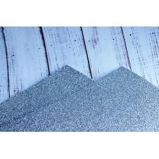Фоамиран с глиттером . 2 мм.  Серебро