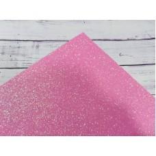 Фоамиран с глиттером на клеевой основе. 2 мм.  Розовый