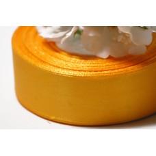 Атласная лента 4 см. №112 Апельсиновый