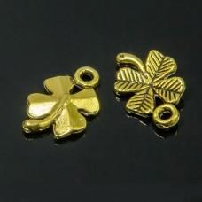 Кулон Клевер, Металл, Цвет: Античное Золото, Размер: 15.5x10x2мм