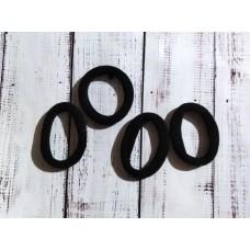 Резинка для волос бесшовная, черная. 4 см