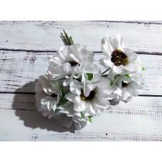Букет ромашек. Белый. 6 цветочков